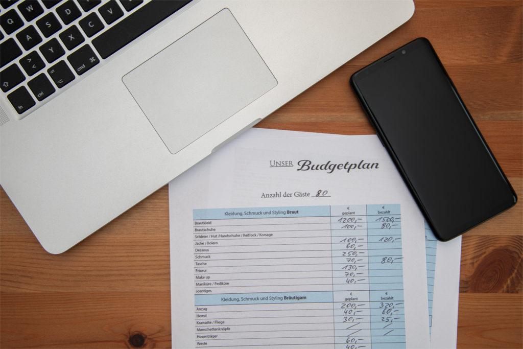 Budgetliste für deine Hochzeit